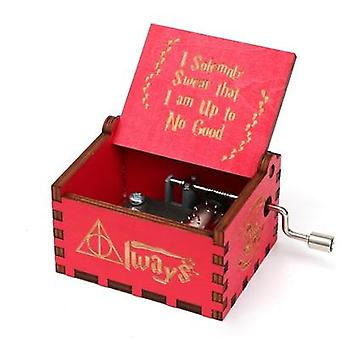 I Solemnly Swear That I Am Up To No Good- Hand Crank Wooden Music Box