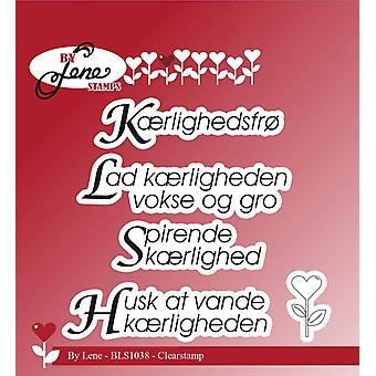 Door Lene Deense teksten Clearstamps