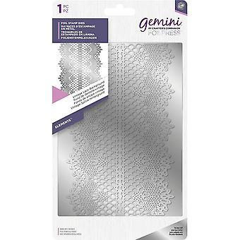 Gemini Vintage Lace Background Foil Stamp Die