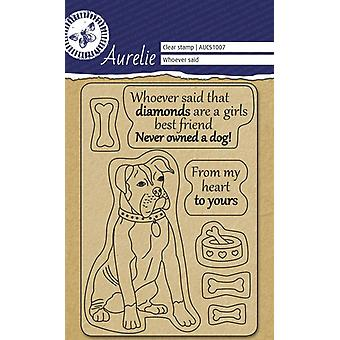Aurelie Whoever Said Clear Stamps