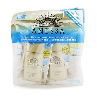 Anessa קרם הגנה מושלם Uv הטיפול חלב Spf50 + Pa + + + דואו Pack-2x60ml/2oz