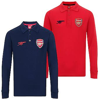 Arsenal FC Official Football Gift Boys Long Sleeve Polo Shirt