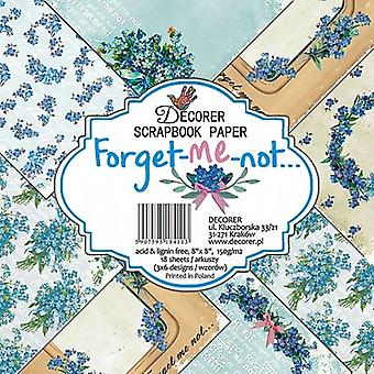 Decorer Forget-Me-Not 8x8 Inch Paper Pack