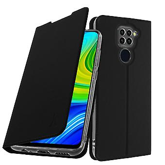 Case for Xiaomi Redmi Note 9 with Card Holder Akashi Video Function - Black