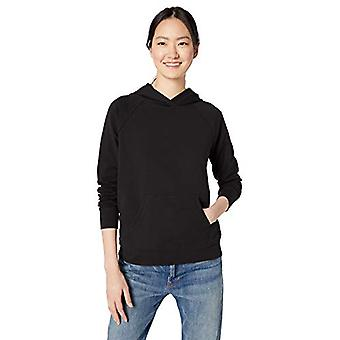 Brand - Daily Ritual Women's Terry Cotton and Modal Popover Sweatshirt, Black, Small