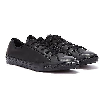 Converse Chuck Taylor Dainty Womens Black Mono Leather Trainers