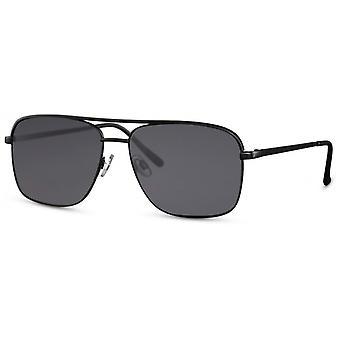 النظارات الشمسية الرجال مستطيلة الرجال كات. 3 مات الأسود / الأسود