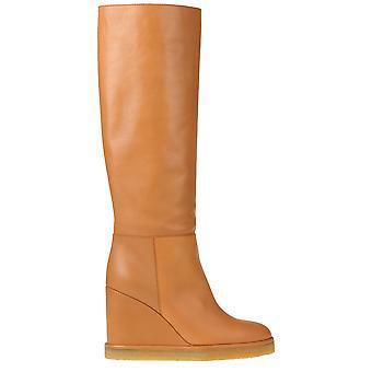 Céline Ezgl076052 Women's Beige Leather Boots