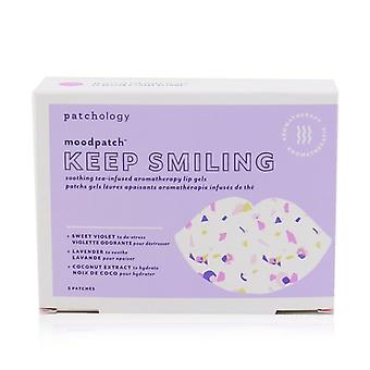 Patchology Moodpatch - Keep Smiling Soothing Tea-Infused Aromatherapy Lip Gels (Sweet Violet+Lavender+Coconut Extract) 5pcs