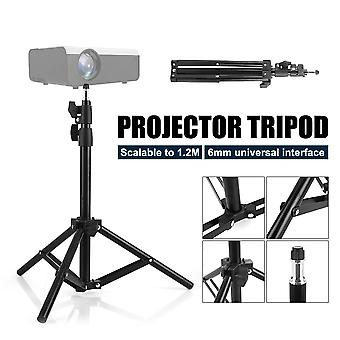 Universal Aluminum Alloy Home LCD Projector Tripod Mount Bracket Holder Stand 6mm Interface Projection Accessory