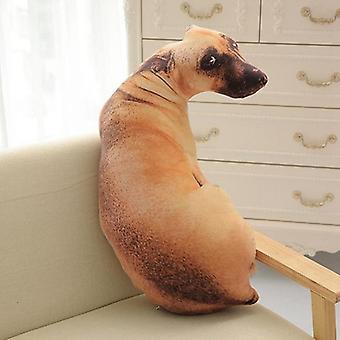 3d Söt Hund Tryckt-50cm U Form Kudde