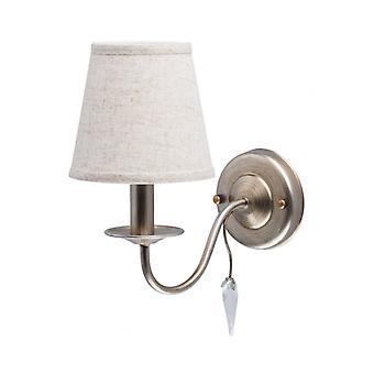 Elegance Silver Wall Light 1 Bulb 27 Cm