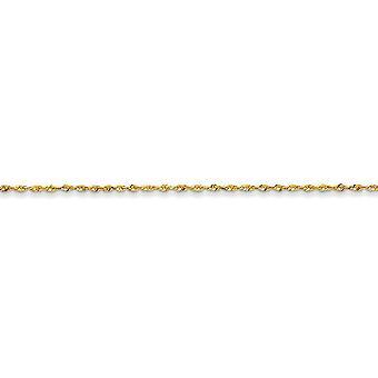 14k sárga arany szilárd könnyű homár karom bezárása 1,5 mm-es szikra cut extra lite kötél lánc nyaklánc - hossza: 14 a