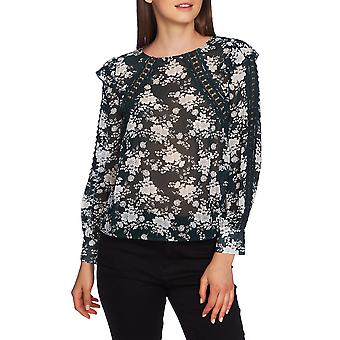 1.State | Lace-Inset Floral Blouse