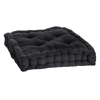 Nicola Spring Square Padded French Mattress Dining Chair Cushion Seat Pad - Black