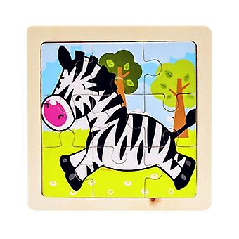 Mini Size 11*11cm Kids Toy Wood Puzzle,  Wooden 3d Puzzle Jigsaw For Baby