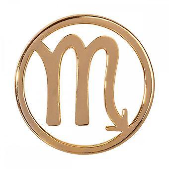 Nikki Lissoni Scorpio Nascimento Sinal Médio Ouro Banhado Coin C119210GM