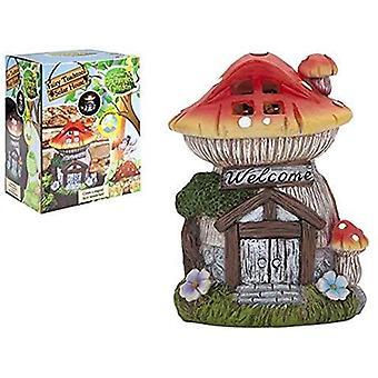 The Faries Enchanted Garden Secret Fairy Garden Solar Toadstool House