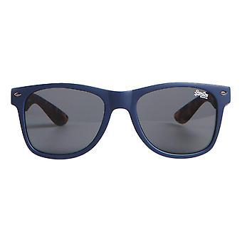 Superdry SDR Newfare Sunglasses - Matte Navy / Tort