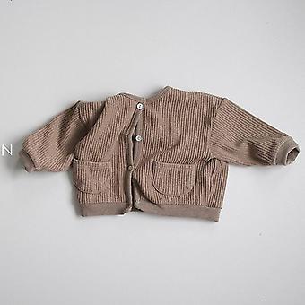 Vastasyntyneet vauvan neuletakit takit - Puuvilla Tyttö Tyttö Päällysvaatteet Takit