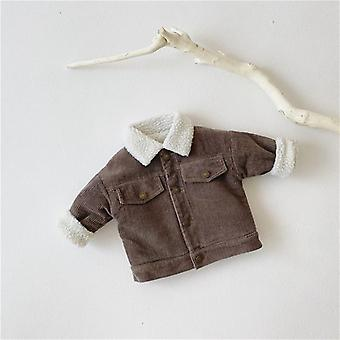 Long Sleeve, Solid Color Baby Coat-winter Wear