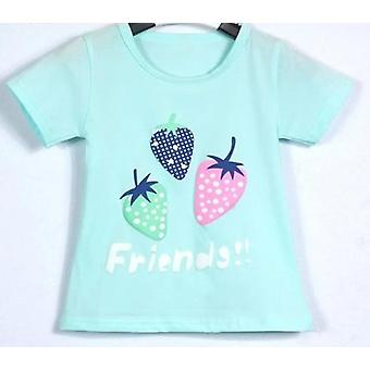Baby Girls Krótki rękaw Strawberry Pattern T-shirt