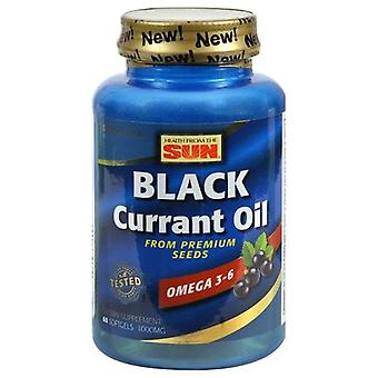 Health From The Sun Black Currant Oil, 1000 mg, 60 Soft Gels