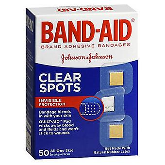 Band-Aid Adhesive Bandages Clear Spots All One Size, 50 each