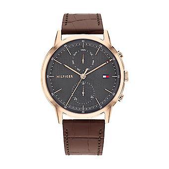 Tommy Hilfiger Relógio Masculino 1710435 Couro