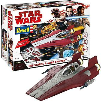 Revell Star Wars Episode VIII Build & Play A-Wing Fighter, With Lights & Sounds