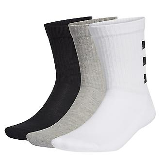 Adidas 3-Stripes Half Cushioned Crew Fitness Sport Calcetines Mixtos (3 Pack)