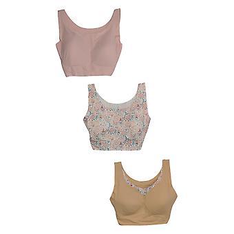 Rhonda Shear 1X One Beige/Pink Paisley Bra Set Verwijderbare Pads 730-792