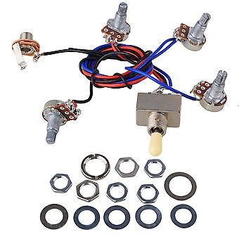 Circuit d'assemblage Câblage Harnais Guitare électrique W/ 2 Humbuckers/2Volumes/2Tones