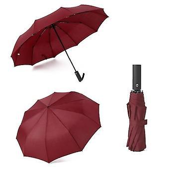 Paraguas Automático plegable - Sombrilla de lluvia paraguas grande con portátil largo