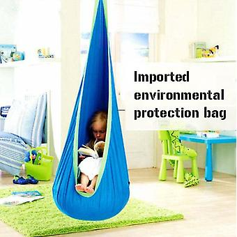 Children's Swing Chair 100% Cotton Hammock Chair With Durable Air Cushion, Child Swing Seat Cover With Adjustable Rope, Including All Accessories