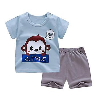 Bomuld Sommer Baby Soft Shorts Suit T-shirt spædbarn tøj
