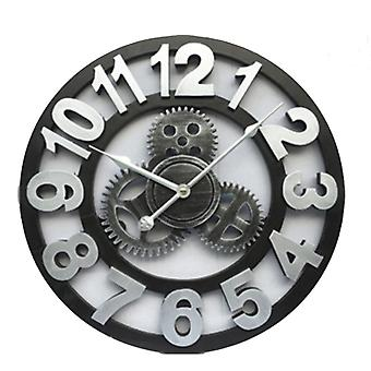 Handmade Oversized 3d Retro Rustic Decorative Luxury Art Large Wall Clock