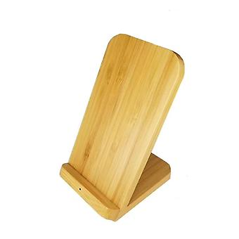 Vertical Bamboo Wireless Charger for QI Phone