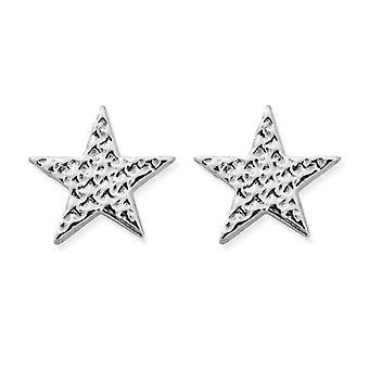 ChloBo SEST3077 Women's Sparkle Star Stud Brincos