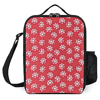 Christmas White Deers Lunch Bags Reusable Stylish Lunch Box For Work
