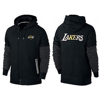 Los Angeles Lakers Buttoned vetoketju urheilu hupullinen löysä collegepaita urheiluvaatteet WT002