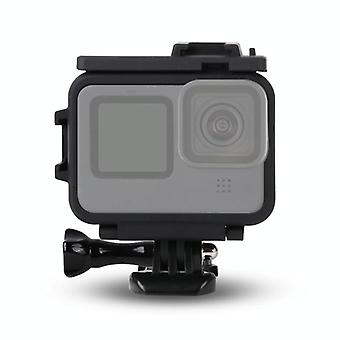 ل GoPro HERO9 أسود البلاستيك الإطار جبل حالة واقية مع معبّل قاعدة & المسمار طويل(أسود)