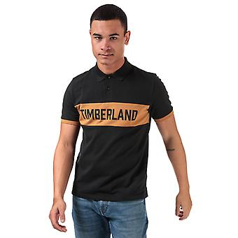 Men's Timberland Miller Rivers Block Polo Shirt in Black
