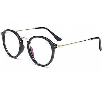 نظارات الإطار نظارات الكمبيوتر جولة المرأة شفافة & apos;ق النظارات الطبية