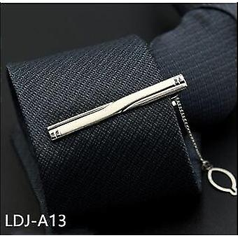 Novo clássico 8cm tie for man - 100% Silk Luxury Solid Plaid Dots Business
