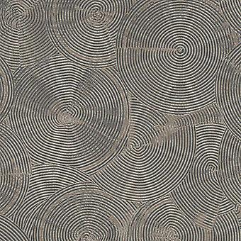 Als Schöpfung Vinyl Textured Circle Tapete