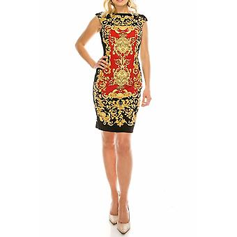 Filigree Printed Sheath Dress