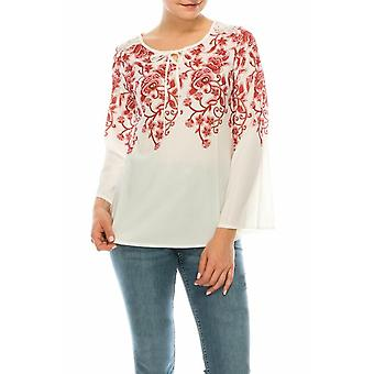 Floral Print 3/4 Sleeve Relax Fit Top