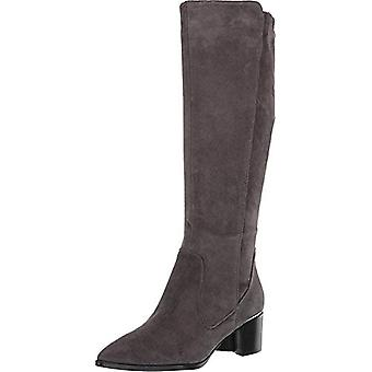 Nine West Womens Hartley Leather Pointed Toe Knee Bottes de haute couture