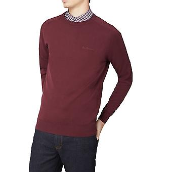 Port Burgundy Crew-Neck Jumper